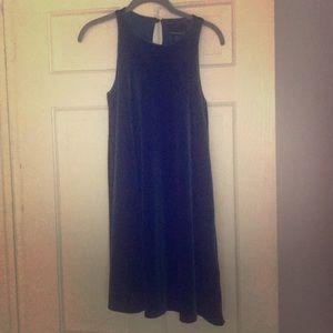 Cynthia rowley teal velvet swing dress xs